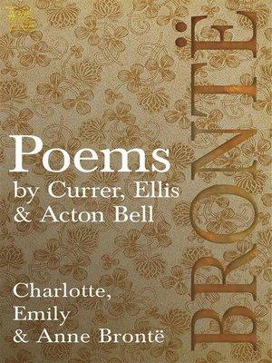 cover image of Brontë  Poems