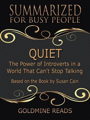 cover image of Quiet--Summarized for Busy People