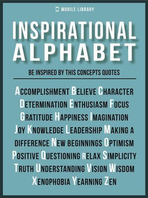 cover image of Inspirational Alphabet--Inspirational Quotes and Ideals