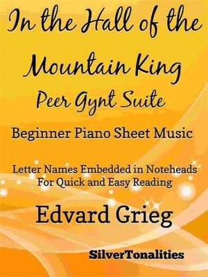 cover image of In the Hall of the Mountain King Beginner Piano Sheet Music