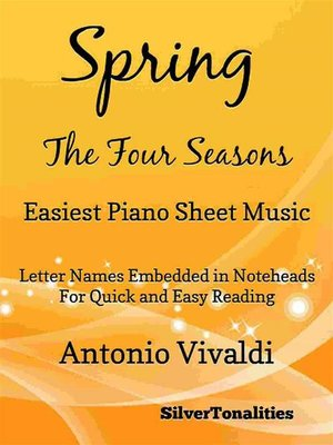 cover image of Spring the Four Seasons Easiest Piano Sheet Music