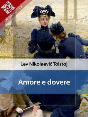 cover image of Amore e dovere
