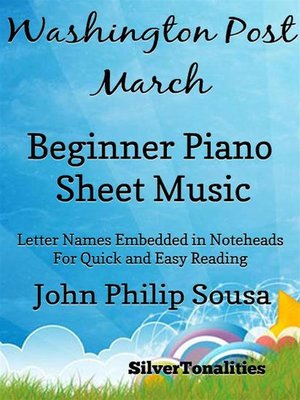 cover image of Washington Post March Beginner Piano Sheet Music