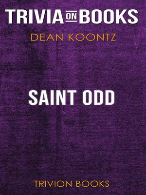 cover image of Saint Odd by Dean Koontz (Trivia-On-Books)