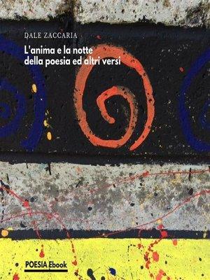 cover image of L'anima e la notte della poesia ed altri versi