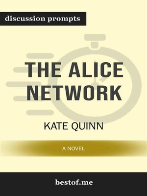 cover image of The Alice Network--A Novel