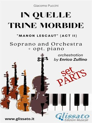 """cover image of """"In quelle trine morbide"""" for soprano and orchestra (Parts)"""