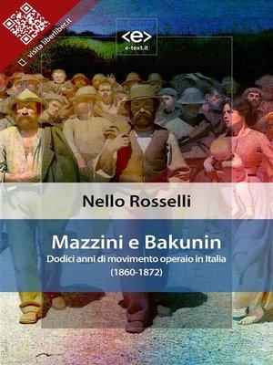 cover image of Mazzini e Bakunin
