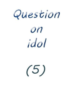 cover image of question on idol (5)