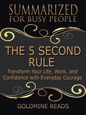 cover image of The 5 Second Rule--Summarized for Busy People