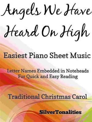 cover image of Angels We Have Heard On High Easiest Piano Sheet Music