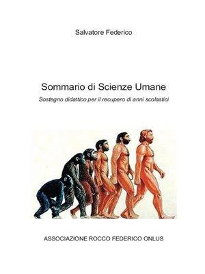 cover image of Sommario di Scienze Umane
