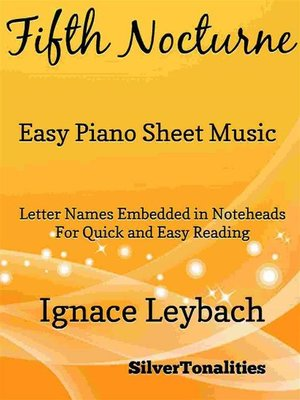 cover image of Fifth Nocturne Opus 52 Number 5 Easy Piano Sheet Music
