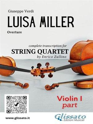 cover image of Luisa Miller (overture) String Quartet--Set of parts