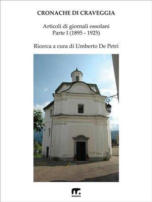 cover image of Cronache di Craveggia