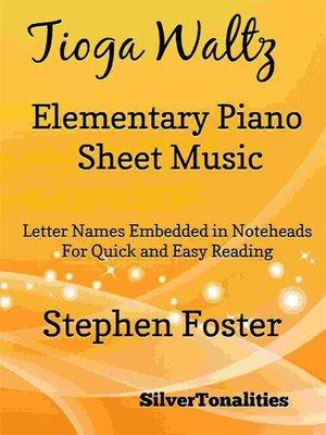 cover image of Tioga Waltz Elementary Piano Sheet Music