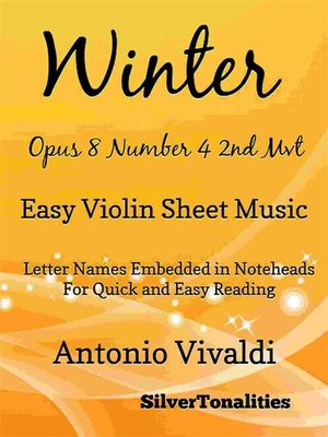 cover image of Winter Opus 8 Number 4 2nd Movement the Four Seasons Easy Violin Sheet Music