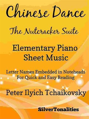 cover image of Chinese Dance Nutcracker Suite Elementary Piano Sheet Music