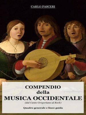 cover image of Compendio della Musica Occidentale