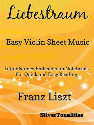 cover image of Liebestraum Easy Violin Sheet Music