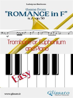 """cover image of Theme from """"Romance in F"""" Easy Trombone/Euphonium & Piano"""