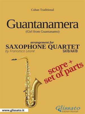 cover image of Guantanamera--Saxophone Quartet score & parts