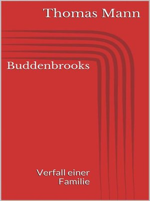 cover image of Buddenbrooks--Verfall einer Familie