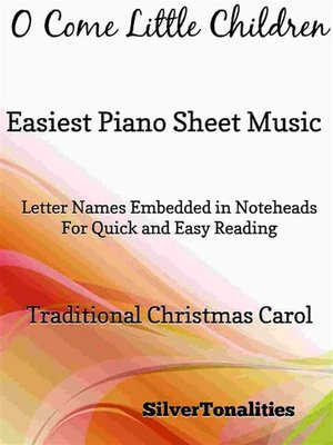 cover image of O Come Little Children Easiest Piano Sheet Music