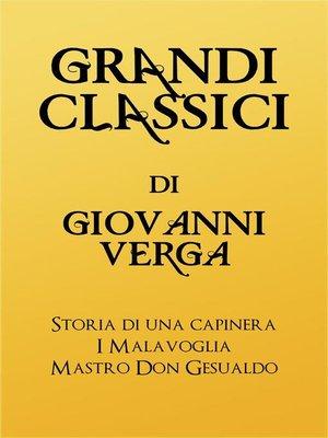 cover image of Grandi Classici di Giovanni Verga