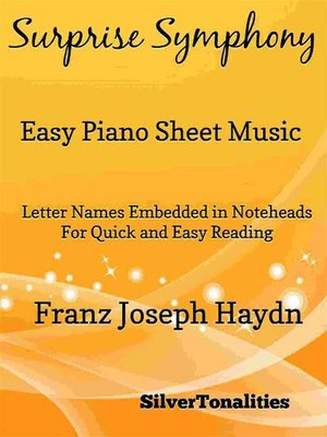 cover image of Surprise Symphony Easy Piano Sheet Music