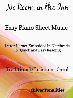 cover image of No Room In the Inn Easy Piano Sheet Music Tadpole Edition