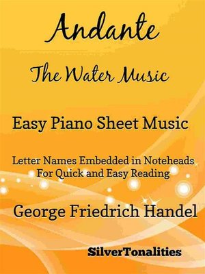 cover image of Andante the Water Music Easy Piano Sheet Music