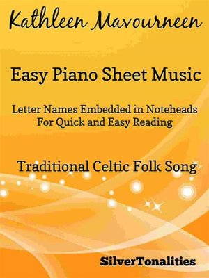 cover image of Kathleen Mavourneen Easy Piano Sheet Music