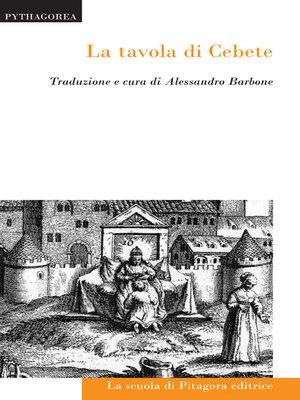 cover image of La tavola di Cebete