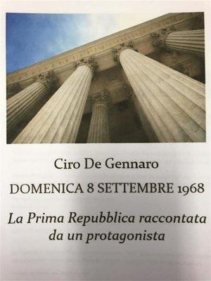 """cover image of """"Domenica 8 Settembre 1968"""""""