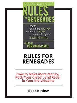 cover image of Rules for Renegades