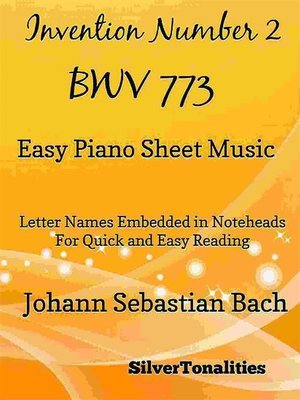 cover image of Invention Number 2 BWV Easy Piano Sheet Music