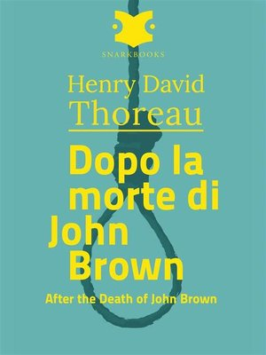 cover image of Dopo la morte di John Brown /After the Death of john Brown