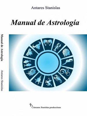 cover image of Manual De Astrología