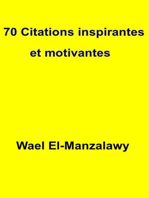 cover image of 70 Citations Inspirantes Et Motivantes