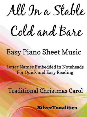 cover image of All In a Stable Cold and Bare Easy Piano Sheet Music