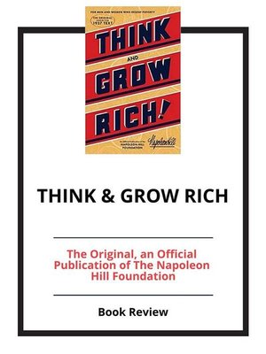 cover image of Think & Grow Rich