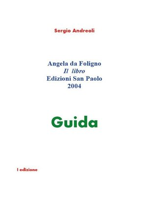 cover image of Angela da Foligno. Il libro.