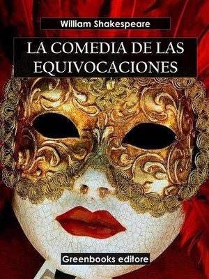 cover image of La comedia de las equivocaciones