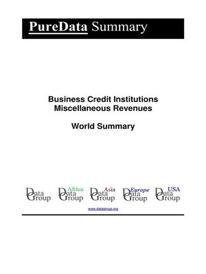 cover image of Business Credit Institutions Miscellaneous Revenues World Summary