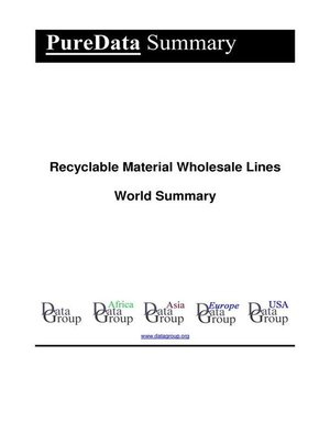 cover image of Recyclable Material Wholesale Lines World Summary