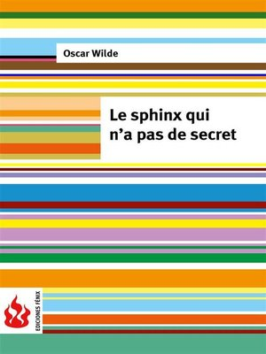 cover image of Le sphinx qui n'a pas de secret (low cost). Édition limitée