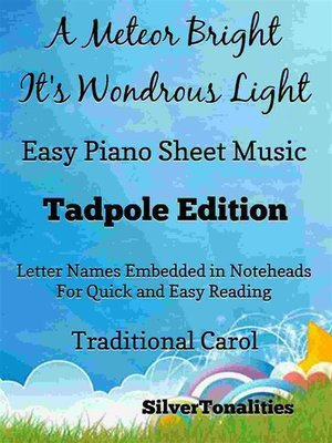 cover image of A Meteor Bright Its Wondrous Light Easy Piano Sheet Music Tadpole Edition