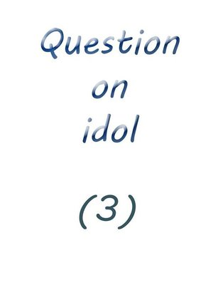 cover image of question on idol (3)