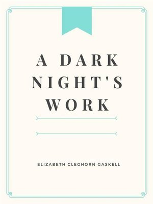 cover image of A Dark Night's Work